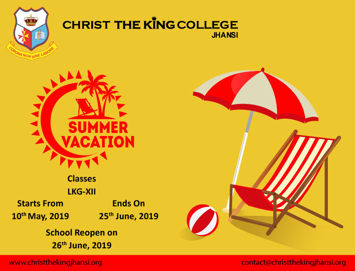 christ the king college jhansi holiday homework